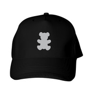 Reflective  Black Cap - Teddy Bear