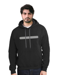Reflective Hoodie  Slanted Bars Rounded Edges .  Reflective  Segmenta