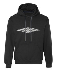 Reflective Hoodie  Diamond Slanted Bars  Horizontal .  Reflective  Segmenta
