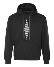Reflective Hoodie  Diamond Slanted Bars Vertical .  Reflective  Segmenta