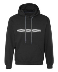 Reflective Hoodie  Horizontal Bars Tapered .  Reflective  Segmenta