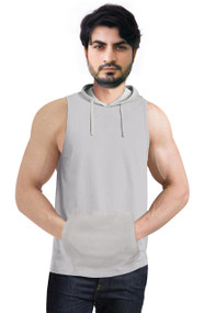 Kangaroo Pockets  Tank Top with hoodie -  HoodieTank