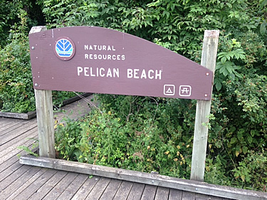 kayak camping destination, Pelican Beach