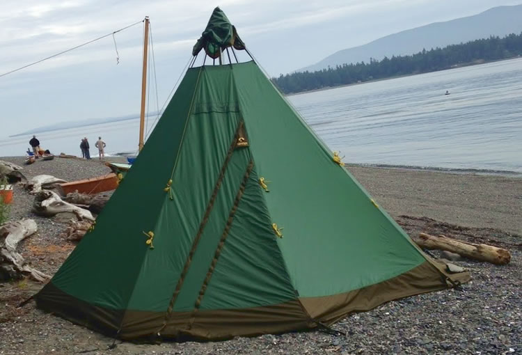 kayak camping in the San Juan Islands