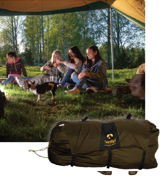 Tentipi Safirflex 15 CP large tent backpacked for Events trip