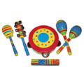 Stripe design 6 piece percussion set by Sassafras