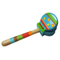 Bright stripe wooden clacker castanet by Sassafras