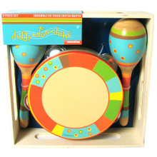 Bright Stripe 3 piece percussion set by sassafras