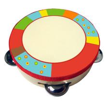 bright stripe wood tambourine