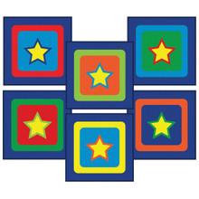 Joy in a Box classroom carpet squares sitting stars design