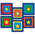 Joy in a Box classroom carpet squares sitting stars design