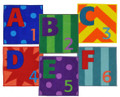 joy in a box carpet squares letters and numbers