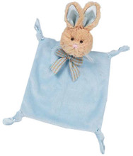 Wee bunny tail plush lovey by Bearington in blue