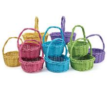 Set of ten pastel spring baskets