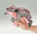 Frog Finger Puppet, red legged spotted