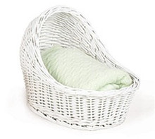 Baby Bassinet in white wicker