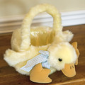 Plush duck basket by Bearington