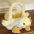 Plush duck basket by Bearington