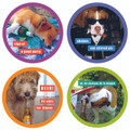 Set of 12 Assorted Pulpboard Coasters - Party Dogs Coaster Set