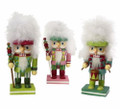 Set of 3 Kurt Adler Hollywood Bright Color Chubbie Nutcrackers