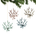 Set of Four Life Like Coral Ornaments