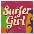 """Surfer Girl"" Ceramic Coaster"