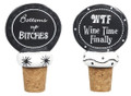 Set of 2 Bottoms Up Bitches & WTF - Wine Bottle Stoppers