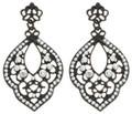 Black Filigree and Crystal Earrings