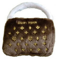 Chewy Vuiton Purse Squeaky Pet Toy Size Large