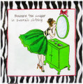 "Set of 20 ""Beware the Cougar in Zebra's Clothing "" Cocktail Napkins"