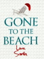 """Gone to the Beach Love, Santa"" Embroidered Kitchen Towel"