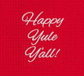 """Happy Yule Y'all"" Embroidered Holiday Kitchen Towel"