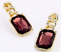 Burgundy Sparkling Crystal Post Earrings