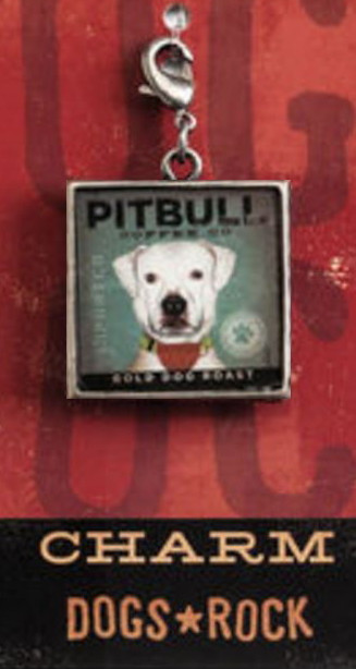 9a2b4826d1f Pitbull Coffee Co. Bold Dog Roast Purse Charm, Zipper Pull, Bracelet ...
