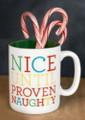 """Nice Until Proven Naughty"" 12oz Stoneware Mug"