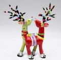 Whimsical Colorful Christmas Holiday Deer Salt & Pepper Shaker Set