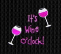 """It's Wine O'Clock"" 18"" x 27"" Embroidered Kitchen Towel by Gallerie II"