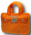 Barkin Bag Handbag Purse Plush Squeaky Pet Toy- Parody on Hermes Birkin