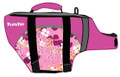 Playa Pup Pet Flotation Device (Life Jacket) Misty Pink w Tropical Designs