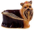 Yorkshire Terrier Bejeweled Box with Matching Necklace