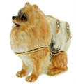 Pomeranian Bejeweled Trinket Box