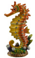 Coral Colored Seahorse Figurine Bejeweled Trinket Box w Matching Necklace