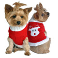 Festive Rudolph Reindeer Christmas Knit Dog Sweater