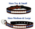 Officially Licensed Denver Broncos Classic Football Leather Dog Collar and / or Lead (In Stock)