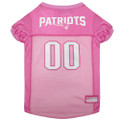 Officially Licensed New England Patriots Pink Football Jersey for Pets