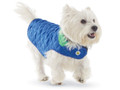 Diamond Quilted Reversible Dog Coat Royal Blue and Kelly Green Size 8 XS