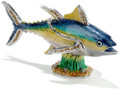 Yellowfin Tuna Enamel Bejeweled Hinged Box