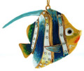 Cloisonne Articulated and Enamel Tropical Blue Fish Ornament with Crystals