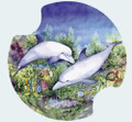 Tropical Dolphin Duo - Set of 2 Absorbent Car Coasters Carsters