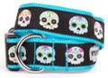 Sugar Skulls Colorful Skeletons Dog Collar by Worthy Dog